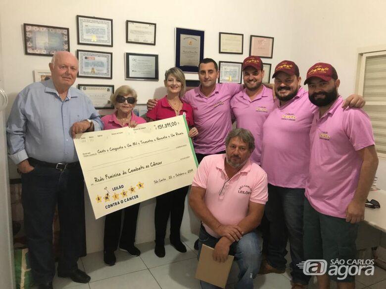 Leilão arrecada R$ 151.391,00; dinheiro é destinado para a Rede Feminina de Combate ao Câncer - Crédito: Divulgação