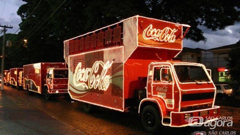 Definida data da passagem da caravana iluminada da Coca-Cola em São Carlos - Crédito: Arquivo/SCA