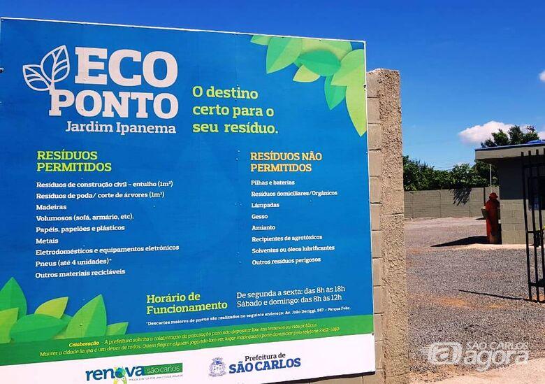 Ecoponto do Ipanema foi reformado e já está em funcionamento -