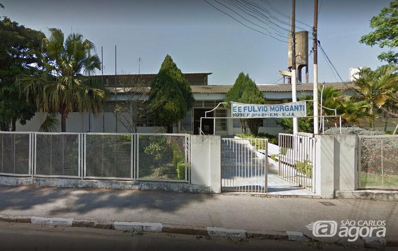 Fachada da escola estadual Fulvio Morganti onde ocorreu a confusão - Crédito: Google Earth
