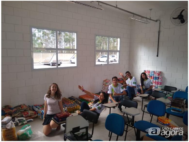 Gincana de alunos do IFSP beneficia entidades filantrópicas de São Carlos - Crédito: Divulgação