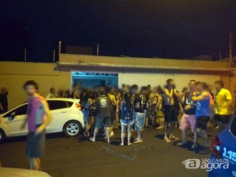 Guarda Municipal acaba com bagunça e fecha república em São Carlos - Crédito: Divulgação/GCM