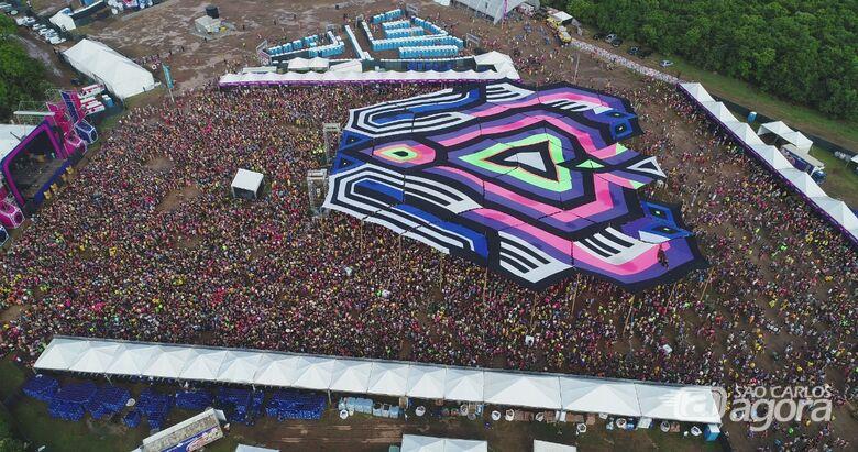 Tusca: organização do evento estimou um público de 150 mil pessoas em quatro dias de festa - Crédito: Divulgação/PM