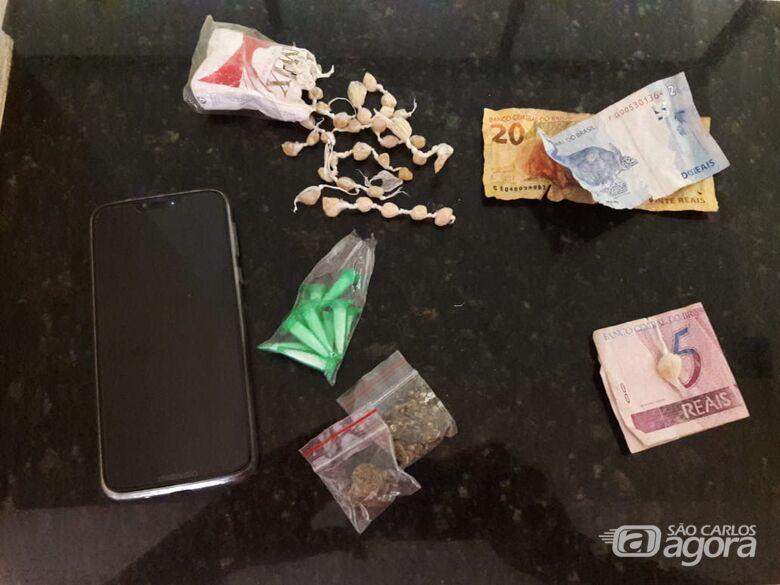 Jovem é flagrado traficando drogas no Presidente Collor - Crédito: Maycon Maximino