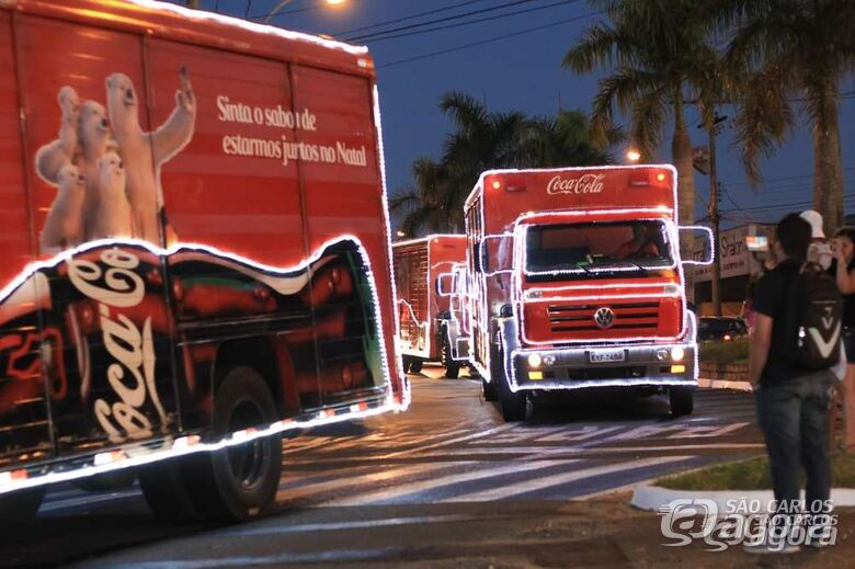 É hoje! Caravana de Natal da Coca-Cola chega em São Carlos; confira o trajeto - Crédito: Arquivo/SCA
