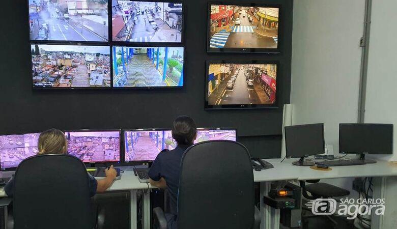 37 câmeras de monitoramento já estão em funcionamento em São Carlos - Crédito: Divulgação