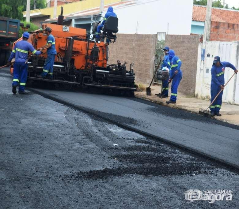 Confira as ruas que vão ser recapeadas nesta terça-feira - Crédito: Arquivo SCA