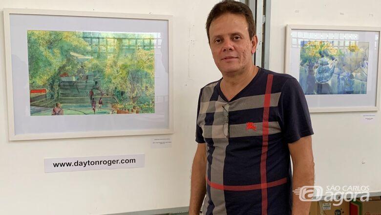 Biblioteca Comunitária da UFSCar apresenta exposição de telas em aquarela - Crédito: Adriana Arruda - CCS/UFSCar