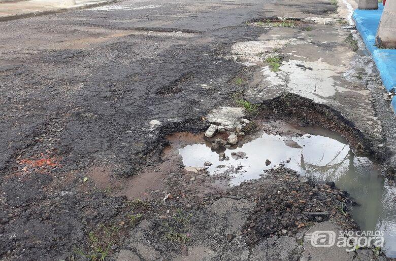 Sérgio Rocha pede recape urgente na região do Maria Stella Fagá - Crédito: Divulgação