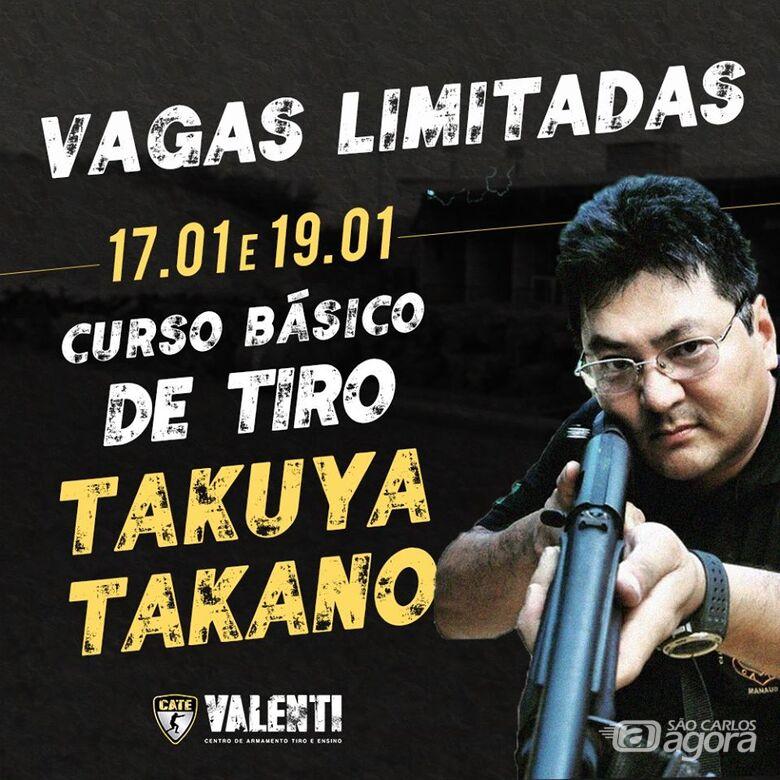 Takuya Takano ministra curso na C.A.T.E. Valenti entre os dias 17 e 19 de janeiro - Crédito: Divulgação