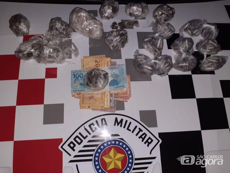 Traficante é preso com drogas escondidas no carro - Crédito: Divulgação