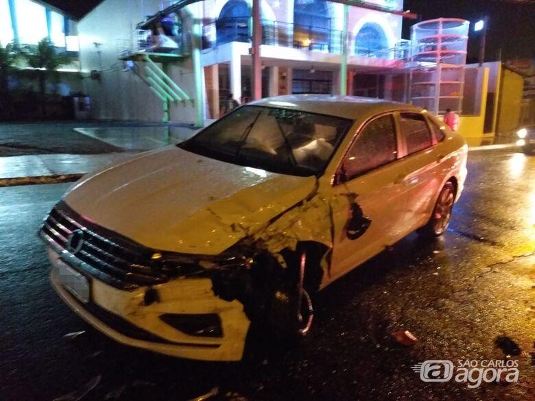 Duas pessoas ficam feridas em acidente na Bruno Ruggiero - Crédito: Luciano Lopes