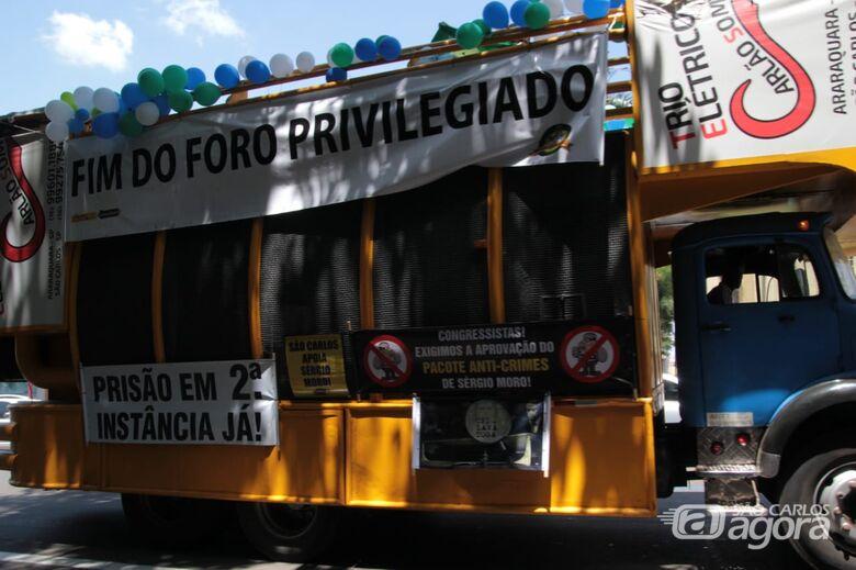 Populares vão às ruas em favor da prisão em 2ª instância - Crédito: Marco Lúcio
