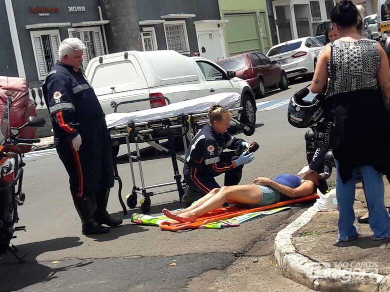 Colisão no centro deixa mulher ferida - Crédito: Maycon Maximino
