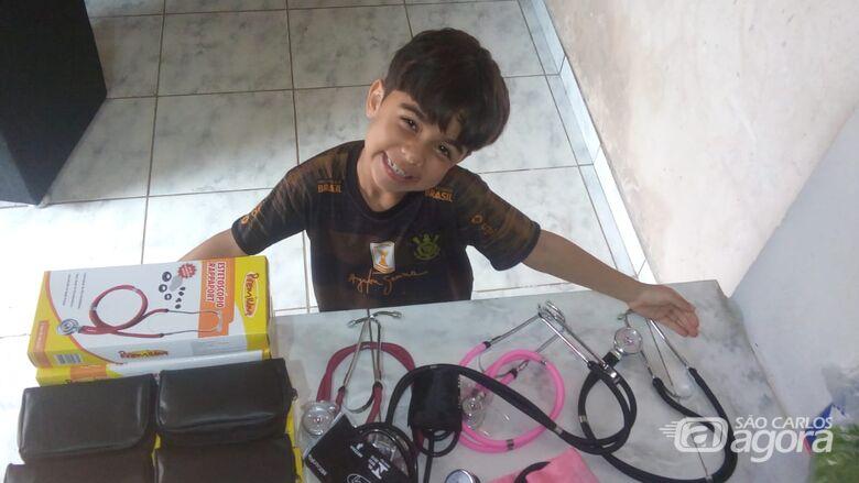 Davi Luiz Filho é paciente há cerca de um ano do ambulatório de nefrologia; Garoto sofre com a síndrome nefrótica - Crédito: Colaborador