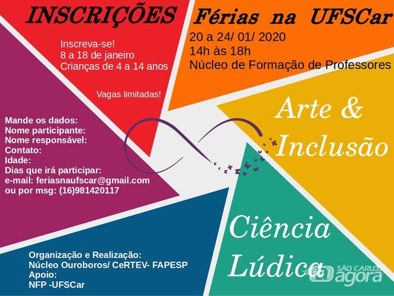 Projeto Férias na UFSCar acontece com atividades de arte, ciência e esportes - Crédito: Divulgação