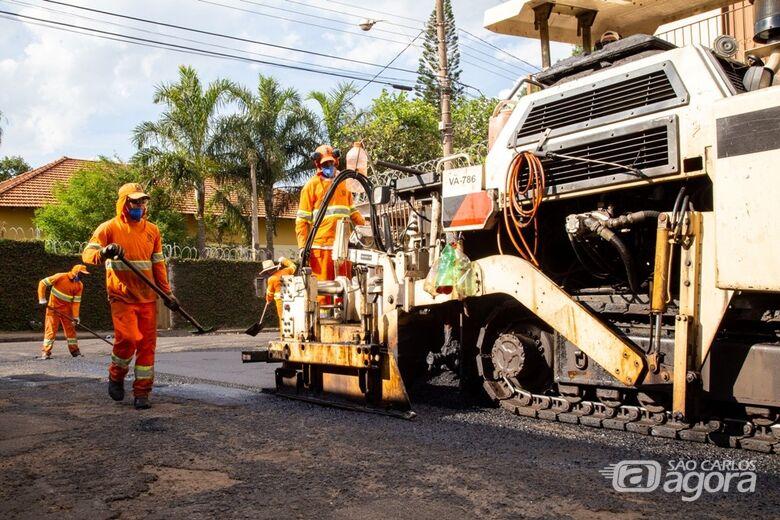 Confiras as ruas que vão ser recapeadas nesta quarta-feira - Crédito: Arquivo SCA