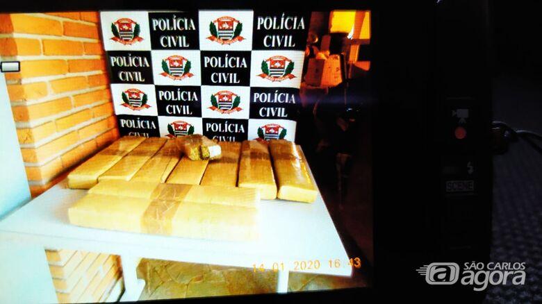 Droga apreendida pela DISE na tarde desta terça-feira - Crédito: Maycon Maximino