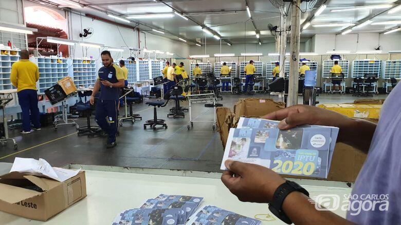 Carnês do IPTU 2020 já estão nos Correios para início da distribuição - Crédito: Divulgação