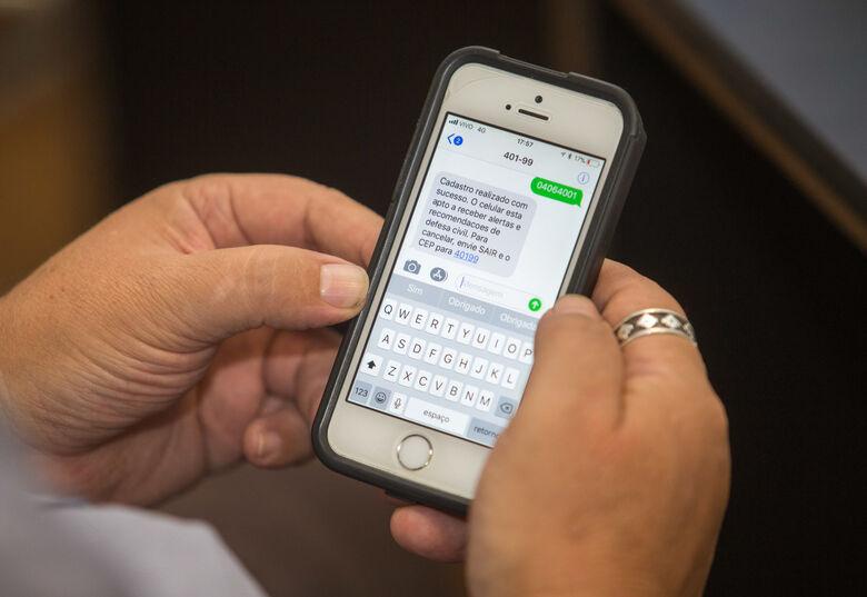 Veja como se cadastrar para receber alertas de temporais da Defesa Civil - Crédito: Divulgação