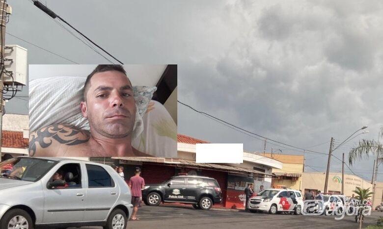 Local onde ocorreu o homicídio em Rio Claro - Crédito: Grupo Rio Claro