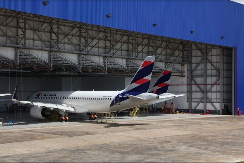 Aeronaves do Chile em manuntenção no MRO - Crédito: Divulgação