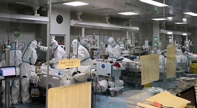 UNIDADE DE TERAPIA INTENSIVA DO HOSPITAL PULMONAR DE WUHAN. - Crédito: (FOTO: CGTN PHOTO/REPRODUÇÃO R7