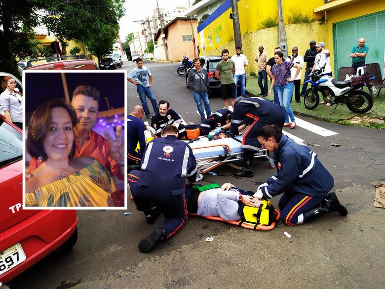 Esposa pede orações ao marido que sofreu grave acidente de moto em São Carlos - Crédito: Maycon Maximino