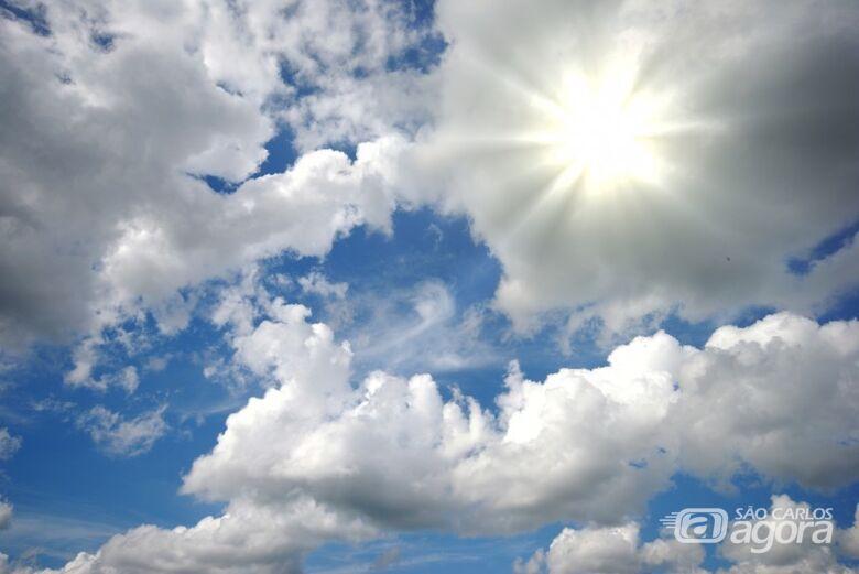 Previsão é de céu parcialmente nublado e sem chuva neste final de semana - Crédito: Divulgação