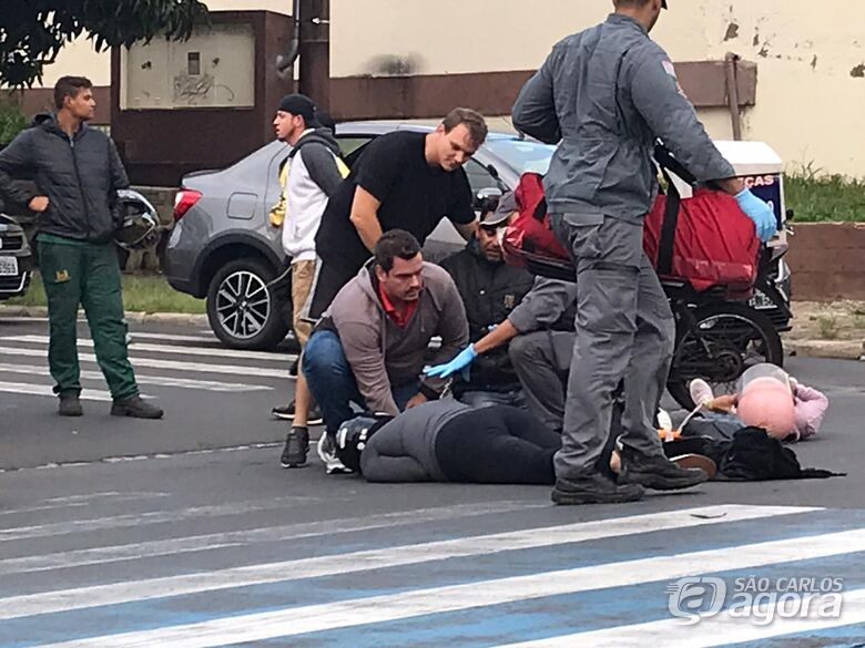 Três pessoas ficaram feridas em acidente - Crédito: Octavio Neto/Colaborador/SCA