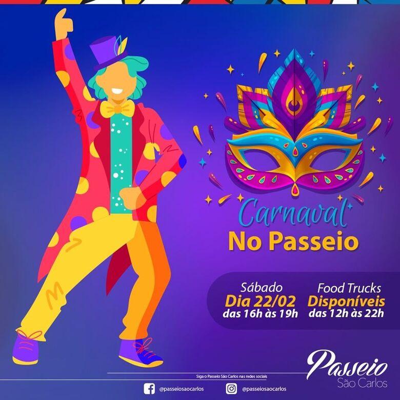 Passeio São Carlos terá várias atrações durante o Carnaval - Crédito: Passeio São Carlos