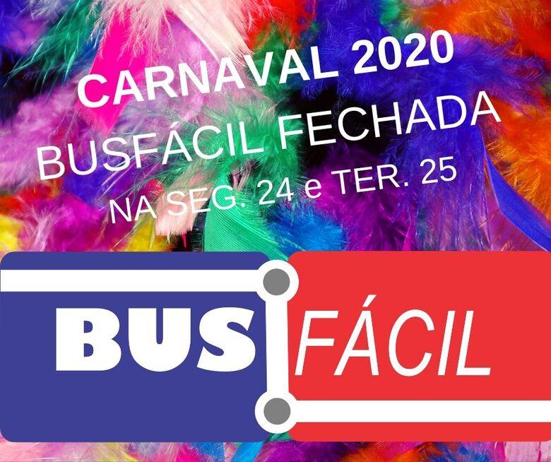 Suzantur divulga horário da Busfácil no Carnaval - Crédito: Divulgação
