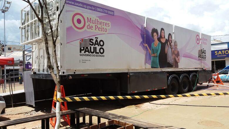 Carreta da mamografia estará em São Carlos - Crédito: Divulgação