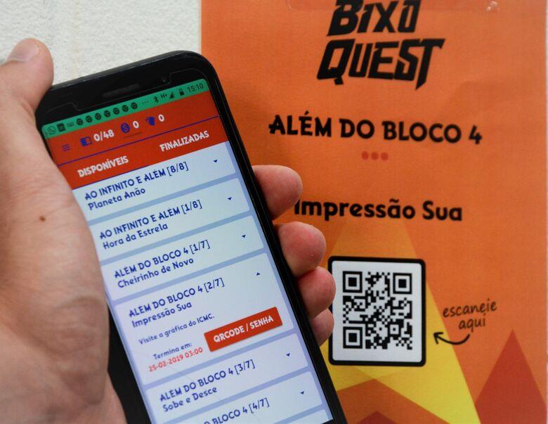 BixoQuest: game criado por alunos do ICMC busca facilitar a integração dos novos alunos - Crédito: Denise Casatti