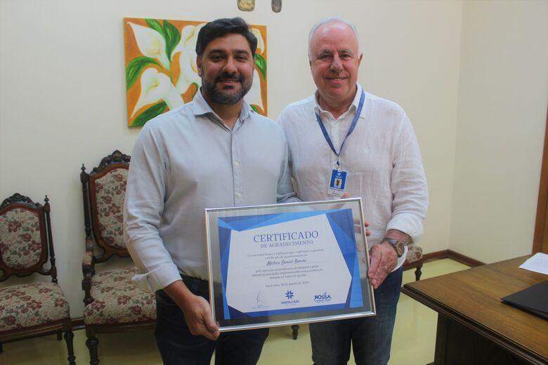 Daniel Bonini é homenageado no último dia como superintendente - Crédito: Alessandra Kuba