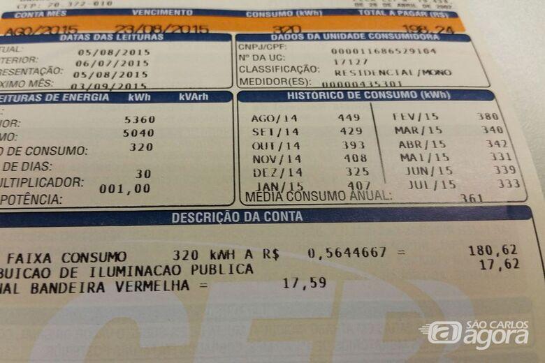 Conta de luz não terá aumento em fevereiro - Crédito: Divulgação