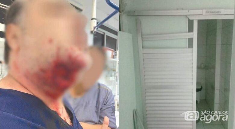 Em surto, paciente morde rosto de médico e danifica pronto-socorro no interior de SP - Crédito: Divulgação