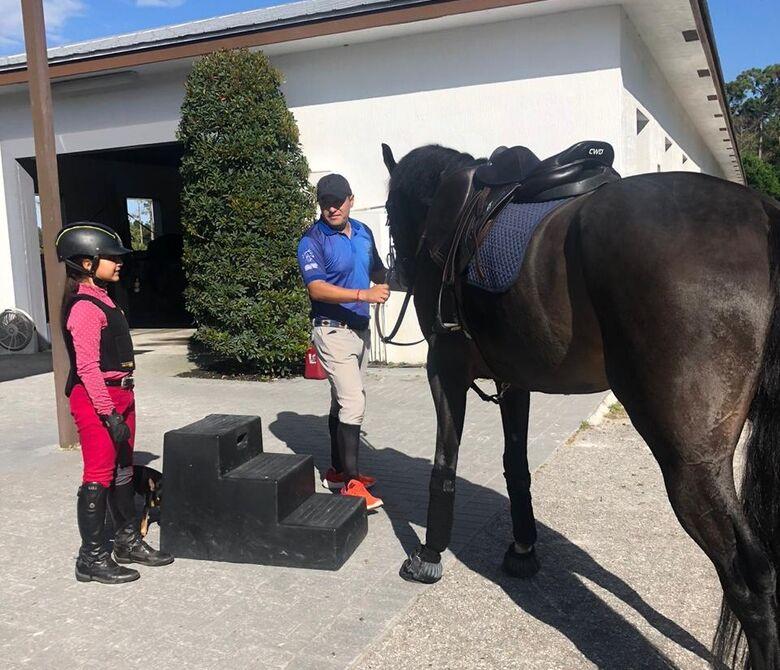 Luiza se prepara para os treinos em terras norte-americanas - Crédito: Divulgação