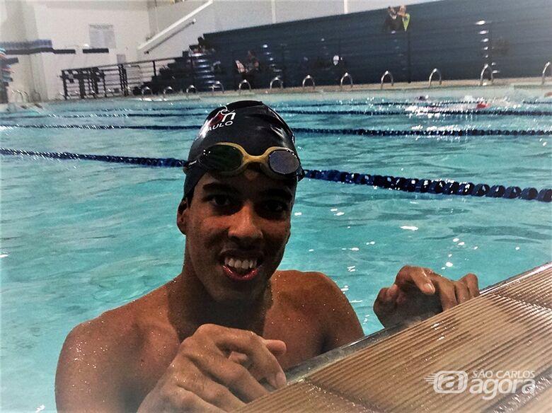 Gabriel fará a estreia na seletiva Caixa de Natação Paralímpica: talento da natação ACD de São Carlos - Crédito: Marcos Escrivani