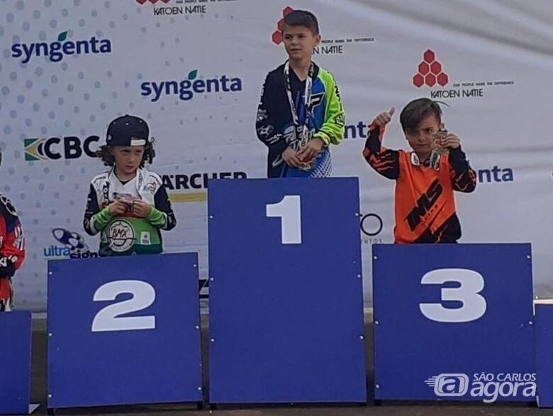 José Felipe Barcelli Opini, 5 anos, foi o terceiro colocado em sua categoria - Crédito: Divulgação