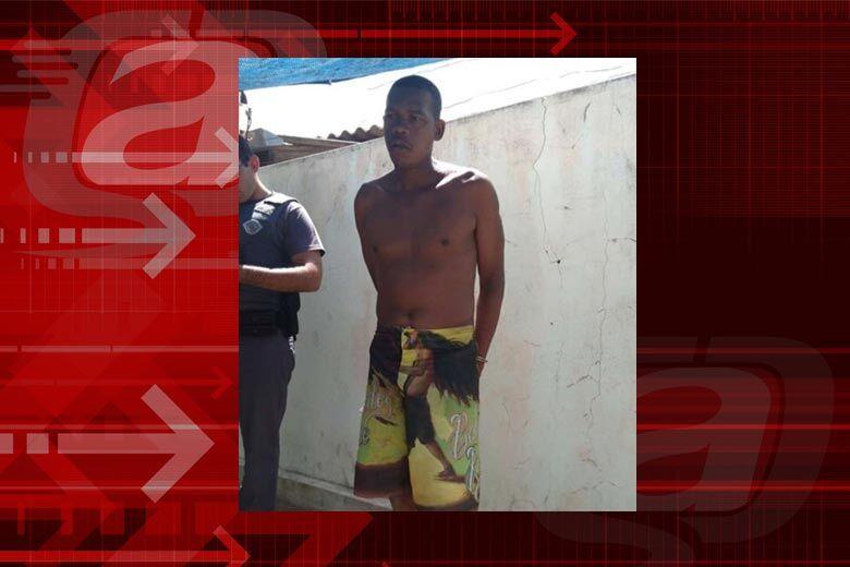 Wagner foi preso logo após o crime pela PM - Crédito: Milton Rogério/Arquivo
