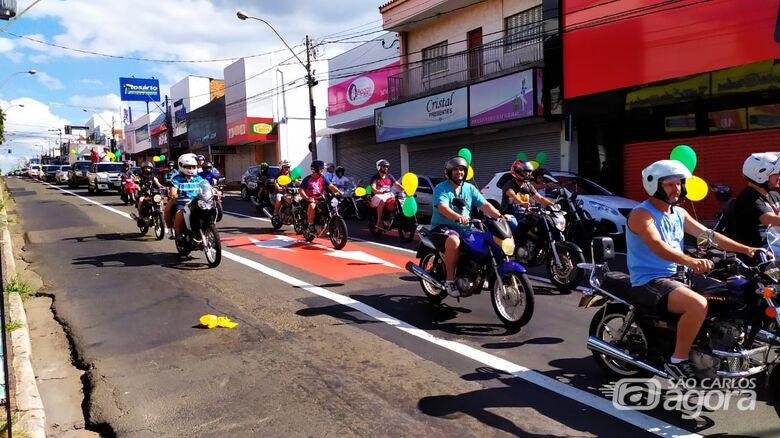 Manifestantes querem a reabertura do comércio em São Carlos - Crédito: São Carlos Agora