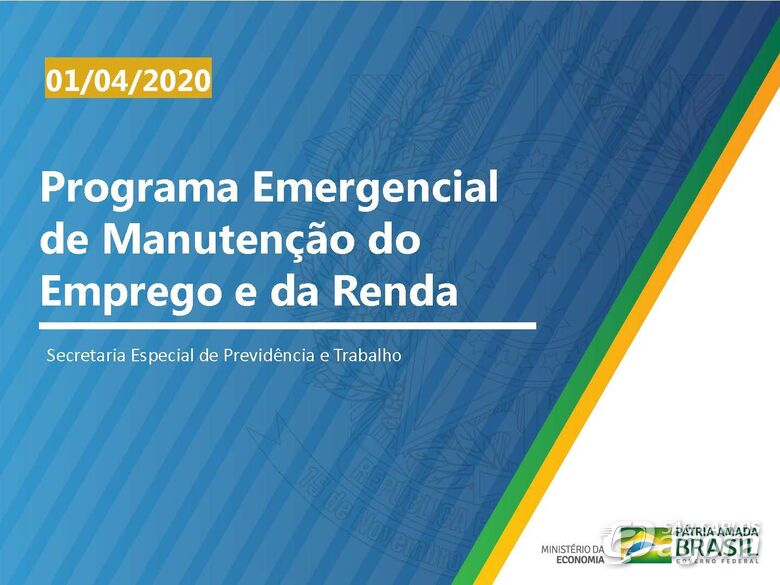 MP 936- Programa Emergencial de Manutenção do Emprego e Renda -