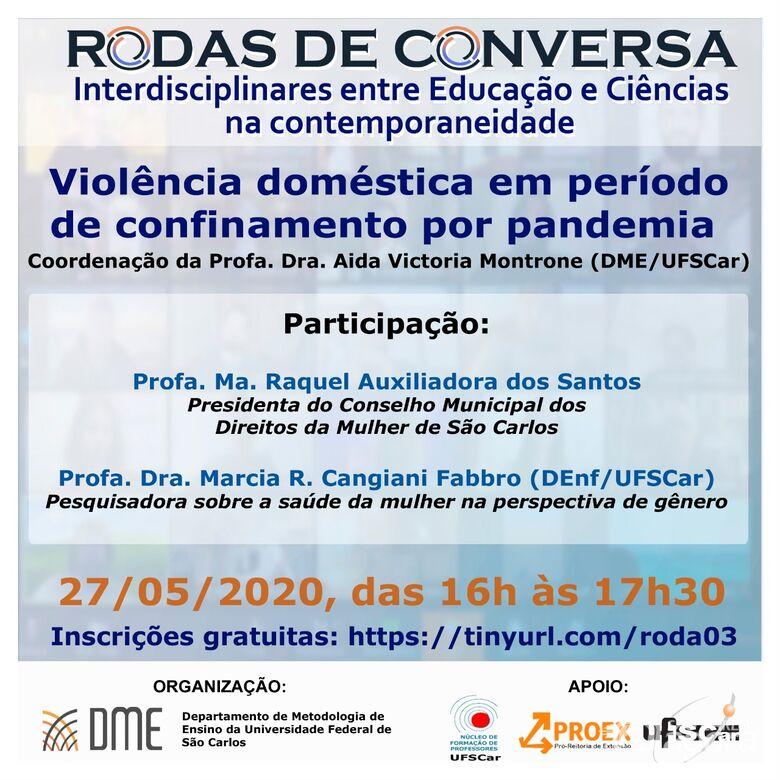 UFSCar realiza debate virtual sobre violência doméstica no contexto da pandemia da Covid-19 -