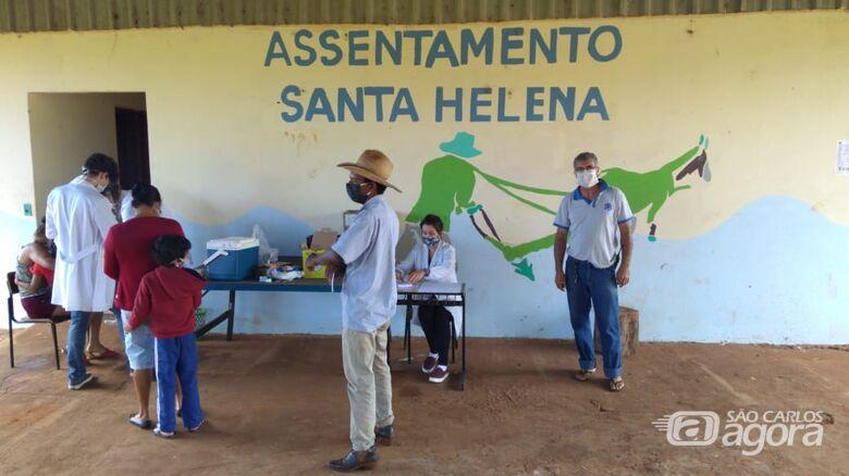 Prefeitura inicia vacinação contra a gripe nos assentamentos - Crédito: Divulgação