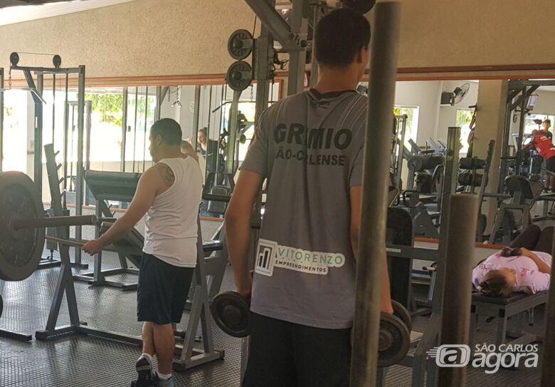 Antes do início da pandemia no Brasil, goleiros realizaram treinos na academia da Tecumseh Clube - Crédito: Marcos Escrivani