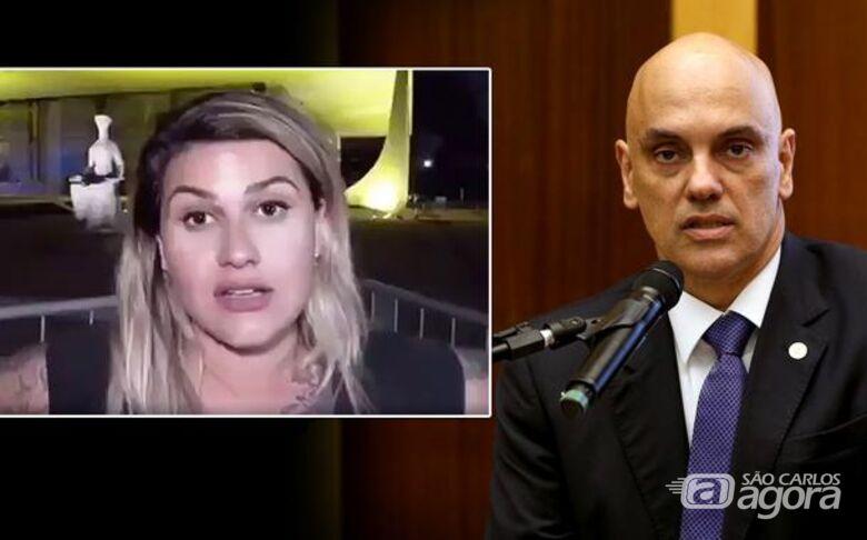 Sara Winter ameaça o ministro Alexandre de Moraes - Crédito: Divulgação