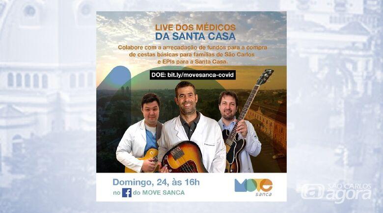 Trio de médicos faz nova live em prol da Santa Casa - Crédito: Divulgação