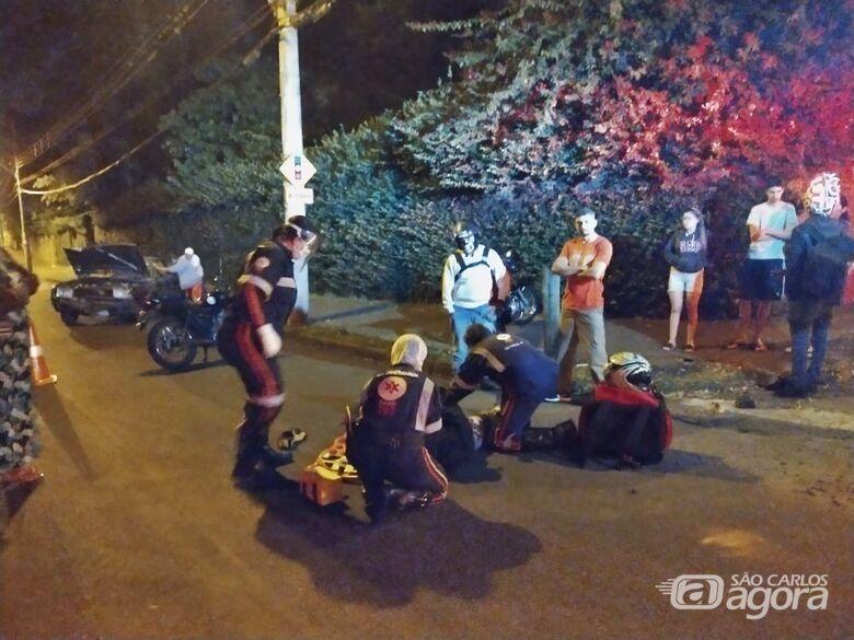 Motociclista fica ferido em acidente após ser fechado por carro - Crédito: Luciano Lopes