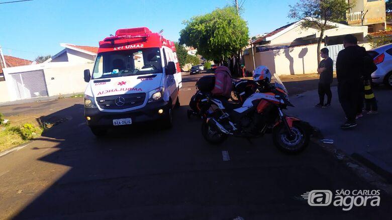 Motociclista leva a pior em acidente de trânsito - Crédito: Maycon Maximino